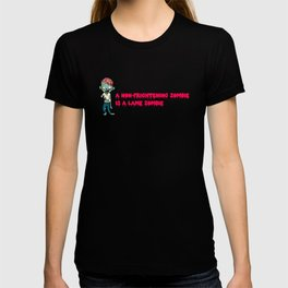 A non-frightening zombie is a lame zombie. Zombie halloween gift for kids T-shirt