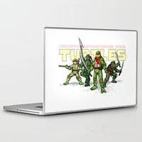 ninja turtles Laptop & iPad Skins featuring Philippine Revolutionary Ninja Turtles by Cesar Cueva