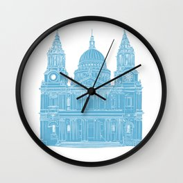 St Paul's Cathedral - London architectural print Wall Clock