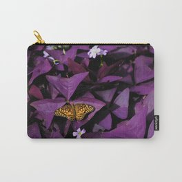 Purple Oxalis Carry-All Pouch