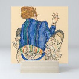 "Egon Schiele ""Seated Woman, Back View"" Mini Art Print"