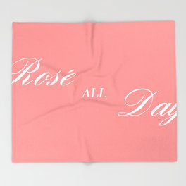 rose all day Throw Blanket