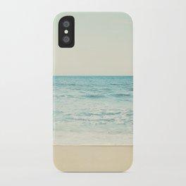 Ocean Landscape Art, Sea Photography, Aqua Seascape, Calming Ocean Horizon Photo iPhone Case