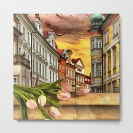 Looking Out At Prague by Liane Wright Metal Print