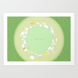 Planet Seven Art Print
