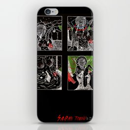 SARAH TONIN AND THE ITCH iPhone Skin