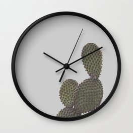 Cactus in a foggy morning Wall Clock