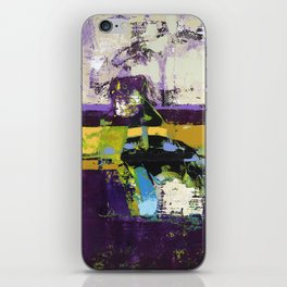 Controversy Prince Deep Purple Abstract Painting Modern Art iPhone Skin