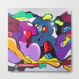 graffiti art Metal Print