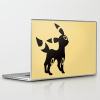 umbreon Laptop & iPad Skins featuring Umbreon by Polvo