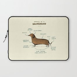 Anatomy of a Dachshund Laptop Sleeve