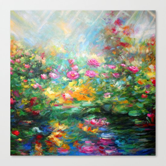 Roses paint  Canvas Print