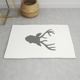 Deer Head: Grey Rug