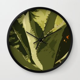 Agave Abstract Wall Clock