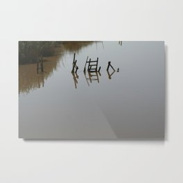 The river 's cryptic message Metal Print