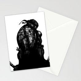 leonardo black and white Stationery Cards