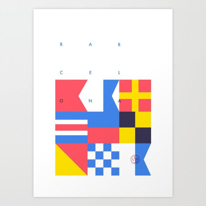 BAR - CEL - ONA Art Print