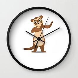 Ferret Mammals Domestic Animals Dabbing Wildlife Gift Ferret DAb Wall Clock