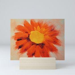 Vibrant Orange Sunflower Mini Art Print