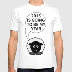 Affirmation Sheep 2015 White Mens Fitted Tee SMALL