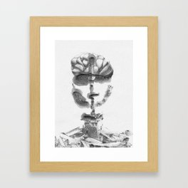 Portrait Monotype Framed Art Print