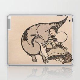 Geisha & Hadrosaure Laptop & iPad Skin