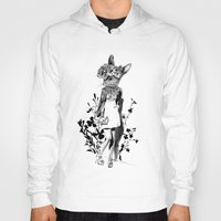 moose Hoodies featuring MOOSE by TOO MANY GRAPHIX