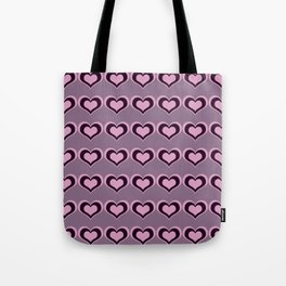 Pastel hearts love pattern embrace friendships, relationships Valentine's day Tote Bag