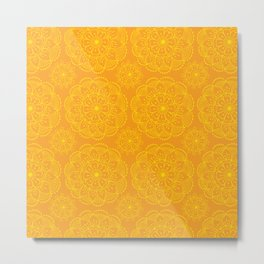 BEautiful indian mandala print Metal Print
