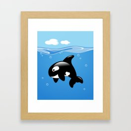 Orca, Cute Killer Whale Framed Art Print