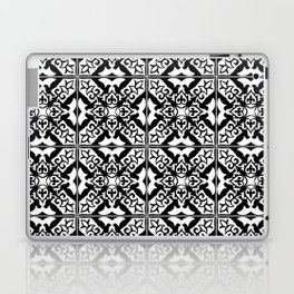 Moroccan Tile Pattern in Black and White Laptop & iPad Skin