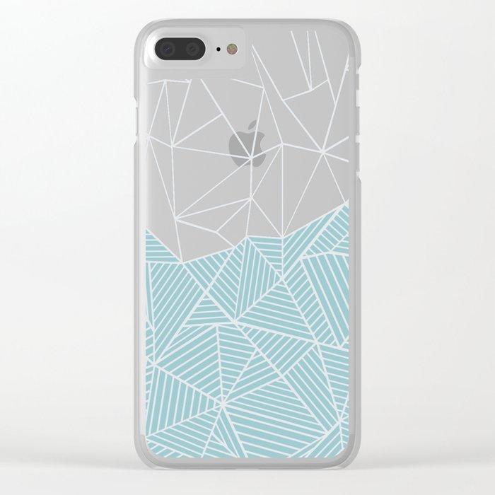 Ab Half and Half Salt Clear iPhone Case