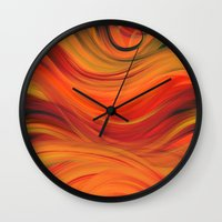 fabric Wall Clocks featuring fabric by Cool-Sketch-Len