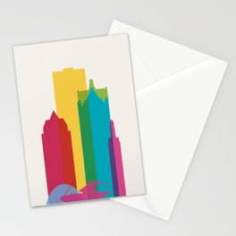 Shapes of Milwaukee. Accurate to scale Stationery Cards
