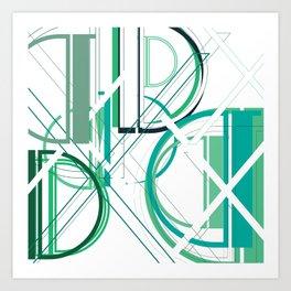 Deco D Art Print