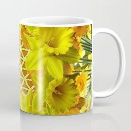 GOLDEN YELLOW SPRING DAFFODILS PATTERN GARDEN Coffee Mug