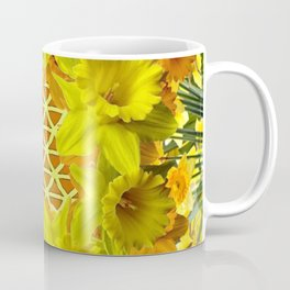 GOLDEN YELLOW SPRING DAFFODILS PATTERN GARDEN Coffee Mug