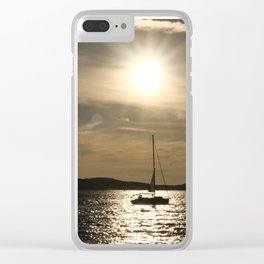 Sun and sea Clear iPhone Case