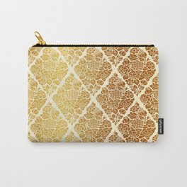 Gold florals Carry-All Pouch