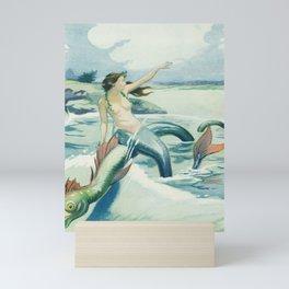 Vintage Art Mermaid Mini Art Print