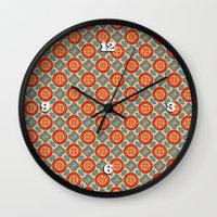 persian Wall Clocks featuring Persian Seal by Peter Gross