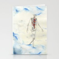 attack on titan Stationery Cards featuring Titan by Sandra Grippi