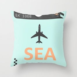 SEA Seattle Throw Pillow