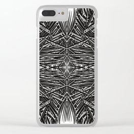 Blak and white Clear iPhone Case