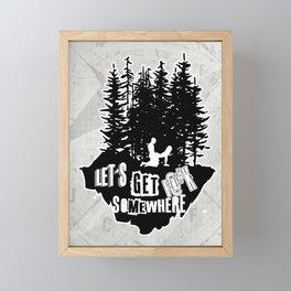 Let's Ride Framed Mini Art Print