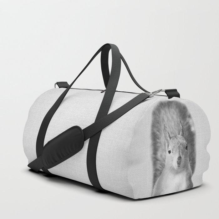 Squirrel - Black & White Duffle Bag