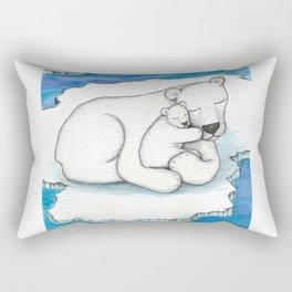 Polar Bear And Cub Rectangular Pillow