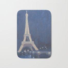 Paris Eiffel tower at night lights Bath Mat