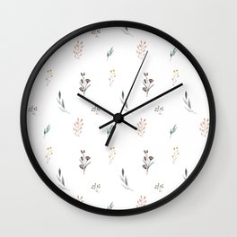 Little botanics pastel pattern Wall Clock