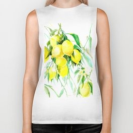 Lemon Tree kitchen decor art towel lemon Biker Tank